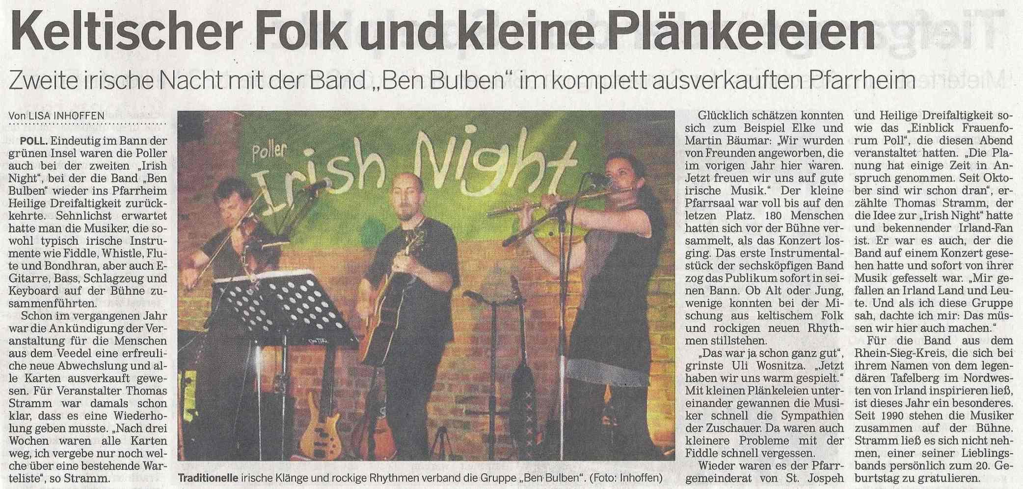 Kölnische Rundschau vom 29.04.2010